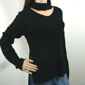 Planet Gold Black Beauty Cutout Pullover  Acrylic